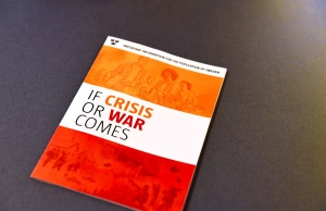 "Swedish Civil Contingencies Agency presents the new brochure ""If Crisis or War Comes"" during a press conference in Stockholm"