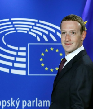 Facebook's CEO Mark Zuckerberg arrives at the European Parliament to answer questions in Brussels