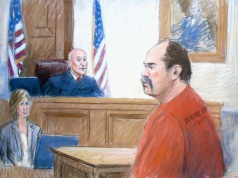Arthur Rathburn, convicted of providing diseased body parts to medical customers, is pictured in a court sketch while being sentenced by U.S. District Judge Paul Borman in Detroit