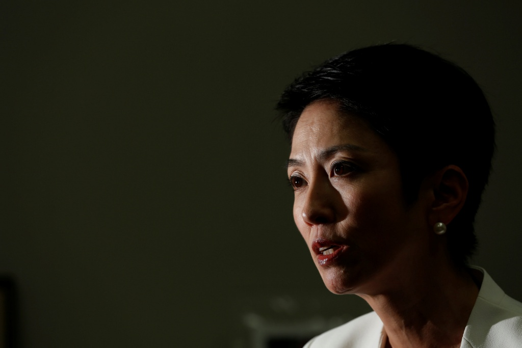 The Constitutional Democratic Party of Japan's lawmaker Renho speaks during an interview with Reuters in Tokyo