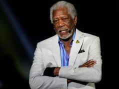 Actor Morgan Freeman takes part in the opening ceremonies of the Invictus Games in Orlando, Florida