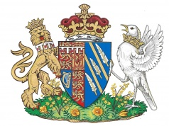 Britain's Meghan, the Duchess of Sussex's, new coat of arms can be seen in this undated handout illustration issued by Kensington Palace in London