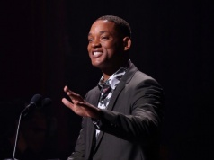 Actor Will Smith speaks during the 6th International Jazz Day at the Grand Theatre of Havana Alicia Alonso, Cuba