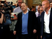 Film producer Harvey Weinstein leaves criminal court following his arraignment in Manhattan in New York