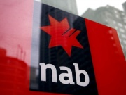 National Australia Bank logo is pictured on an automated teller machine in central Sydney
