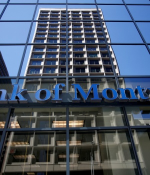 A Bank of Montreal (BMO) sign is seen outside of a branch in Ottawa