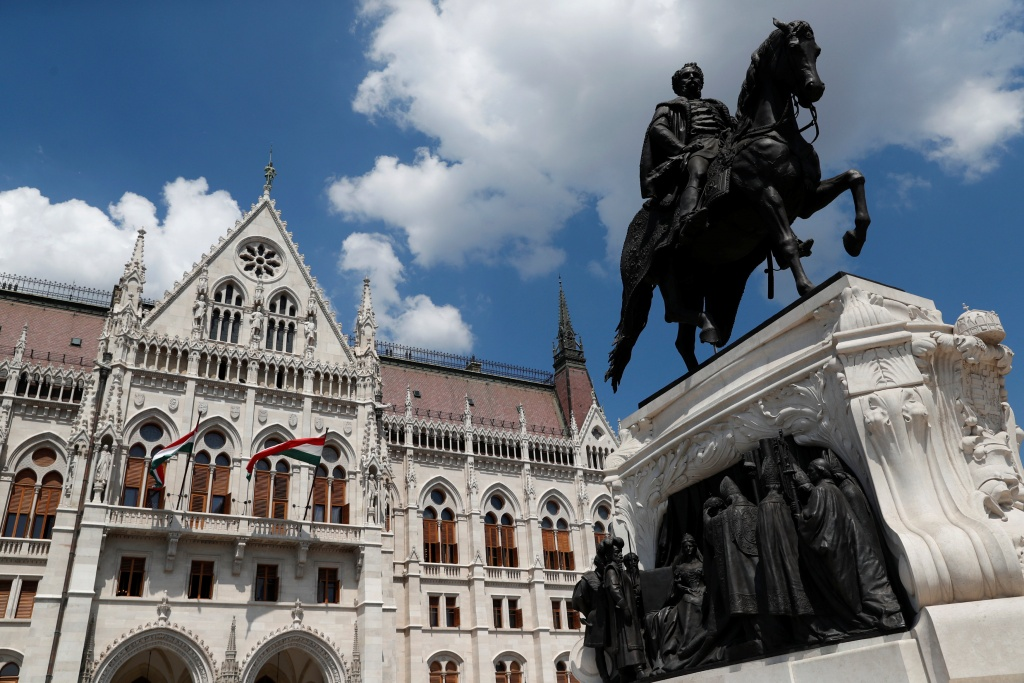 The Hungarian Parliament building is seen in Budapest