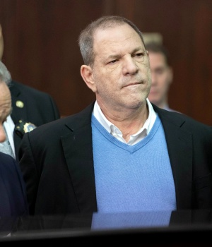 Film producer Harvey Weinstein during his arraignment in Manhattan Criminal Court in New York