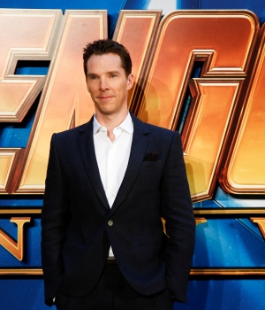 Actor Benedict Cumberbatch attends the Avengers: Infinity War fan event in London