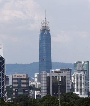 A view of the The Exchange 106 ((formerly TRX Signature Tower) currently under construction in Kuala Lumpur