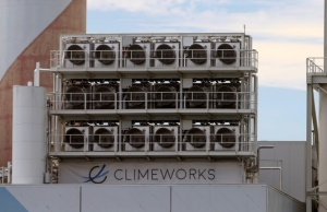 Facility for capturing CO2 from air of Swiss Climeworks AG in Hinwil