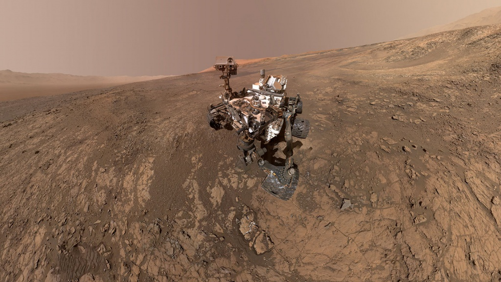 NASA's Curiosity Mars Rover snaps a self-portrait at a site called Vera Rubin Ridge on the Martian surface