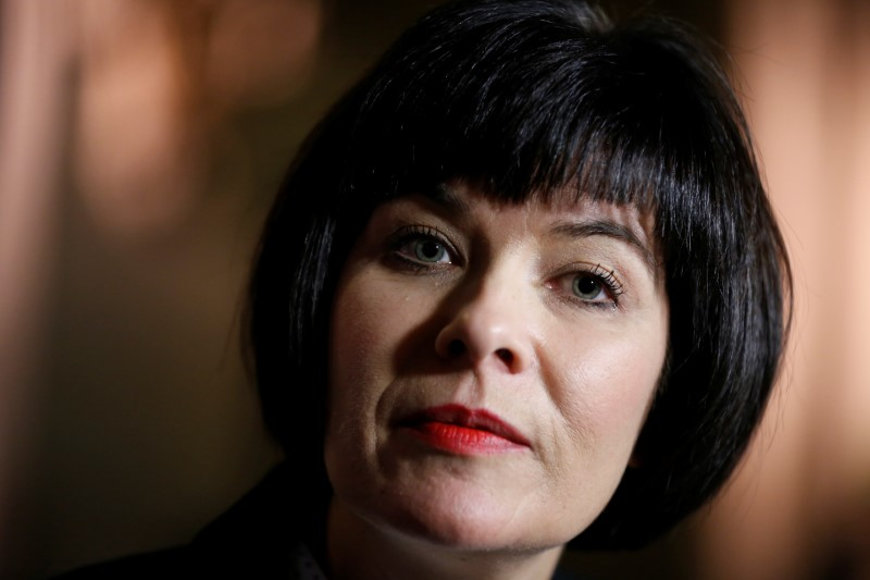 Canada's Health Minister Ginette Petitpas Taylor listens to a question on Parliament Hill in Ottawa