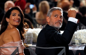 Actor Clooney and his wife Amal attend the 46th AFI Life Achievement Award in Los Angeles