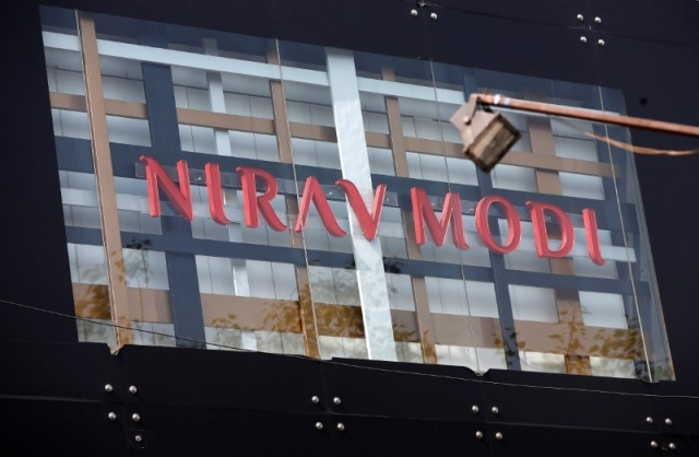A Nirav Modi showroom is pictured in New Delhi