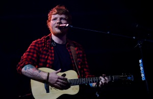 Ed Sheeran performs at the Glastonbury Festival
