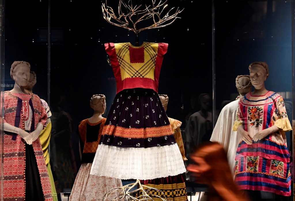 Mexican artist Frida Kahlo's possessions on display outside of Mexico for the first time, at the Victoria and Albert Museum in London, Britain
