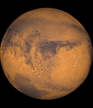 The planet Mars showing showing Terra Meridiani is seen in an undated NASA image