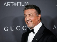 Actor Sylvester Stallone poses at the LACMA Art+Film Gala in Los Angeles