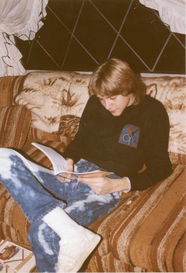 Kurt Cobain is seen on December 24, 1986 in an image handed out by his family which will form part of an exhibition of his personal items which will be exhibited at Museum of Style Icons in Newbridge