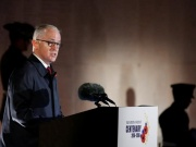 Australian Prime Minister Malcolm Turnbull delivers a speech during the dawn service to mark the ANZAC commemoration ceremony at the Australian National Memorial in Villers-Bretonneux