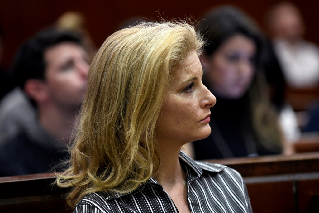 Zervos, a former contestant on The Apprentice, appears in New York State Supreme Court in Manhattan
