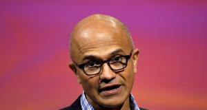 Microsoft's CEO Satya Nadella speaks at the Viva Tech start-up and technology summit in Paris