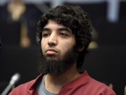 Suspect Moroccan Abderrahman Bouanane attends his trial in Turku