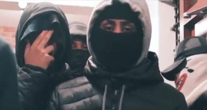 Jordan Bedeau, aged 17, who along with four other Notting Hill gang members has been jailed after admitting conspiracy to commit violent disorder, appears in this undated drill music video which was deemed to glorify violence, in London