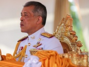 Thailand's King Maha Vajiralongkorn arrives for the annual Royal Ploughing Ceremony in Bangkok