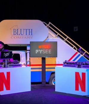 "Netflix displays a prop from ""Arrested Development"" at an exhibition promoting the company's shows for Emmy consideration"