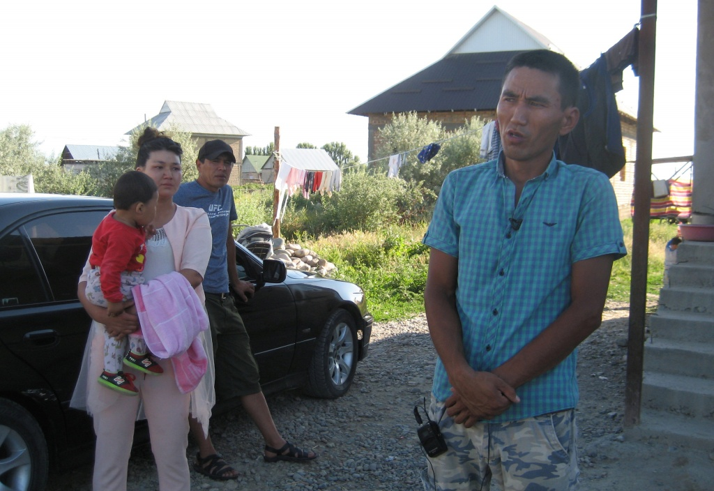 Almaz Anarbekov, brother of taxi driver Chingiz Anarbek Uulu, speaks during an interview with Reuters in the settlement of Muras-Ordo