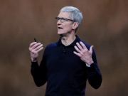 Apple Chief Executive Officer Tim Cook speaks at the Apple Worldwide Developer conference in San Jose