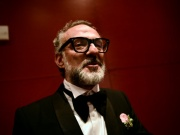 Massimo Bottura, the chef patron of Osteria Francescana restaurant in Italy, talks after receiving the award for Best Restaurant during the World's 50 Best Restaurants Awards at the Palacio Euskalduna in Bilbao