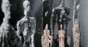 """Sculptures """"Women of Venice"""" (1956) are pictured during the press preview of the Giacometti Institute in Paris"""