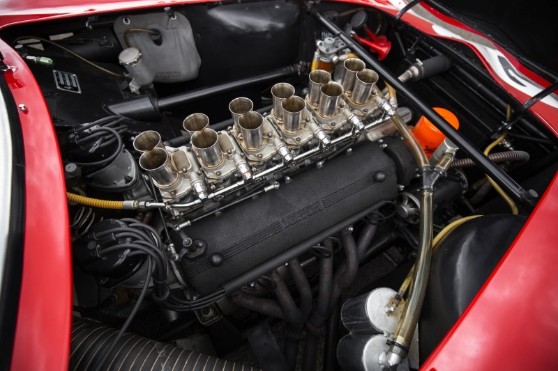 A 1962 Ferrari 250 GTO road racing car engine image by RM Sotheby's in Blenheim