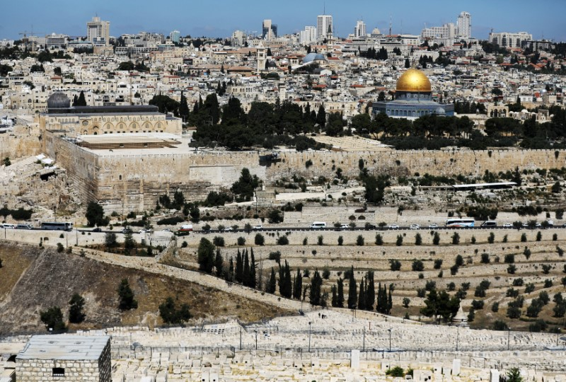 A general view of Jerusalem as seen from the Mount of Olives shows the Dome of the Rock, located in Jerusalem's Old City on the compound known to Muslims as Noble Sanctuary and to Jews as Temple Mount