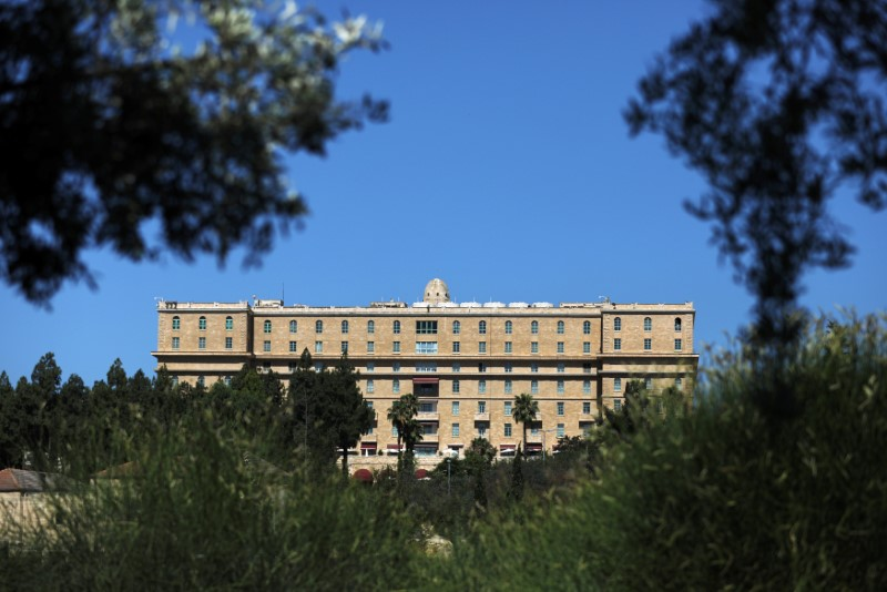 A general view of the King David Hotel in Jerusalem