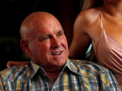 Dennis Hof, owner of the Moonlite BunnyRanch legal brothel and recent winner of the Republican primary election for Nevada State Assembly District 36, sits in the parlor of the brothel in Mound House, Nevada