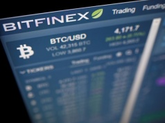 Photo illustration of Bitfinex cryptocurrency exchange website