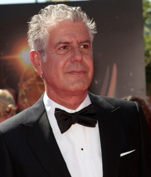 Chef and television personality Bourdain arrives at the 65th Primetime Creative Arts Emmy Awards in Los Angeles