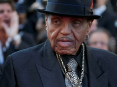 "Joe Jackson father of the late pop star Michael Jackson arrives for the screening of the film ""Sils Maria"" in competition at the 67th Cannes Film Festival in Cannes"