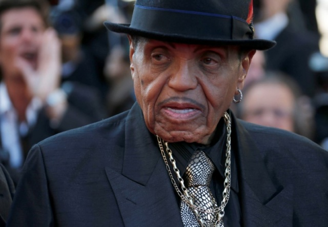 Joe Jackson father of the late pop star Michael Jackson arrives for the screening of the film