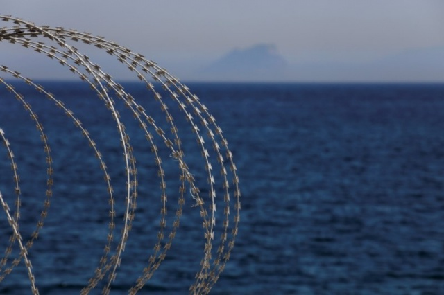 The border fence separating Spain's northern enclave Ceuta and Morocco is seen from Ceuta