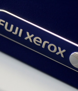 Illustration photo of the Fuji Xerox logo