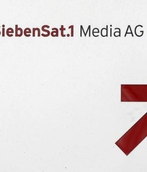 File photo shows the logo of Germany's biggest commercial broadcaster ProSiebenSat.1 Media AG in Unterfoehring