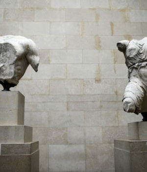 The Parthenon Marbles are displayed at the British Museum in London