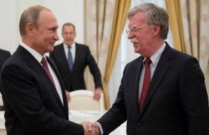 Russia's President Putin meets with U.S. National Security Adviser Bolton in Moscow