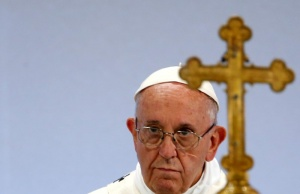 Pope Francis leads a Holy Mass at the Palexpo in Geneva