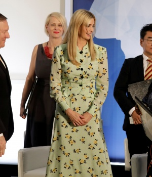 Secretary of State Mike Pompeo and Ivanka Trump hold an event to unveil the 2018 Trafficking in Persons Report